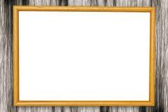 黄色木框架 免版税库存图片