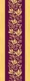紫色木花垂直的无缝的样式 免版税库存图片