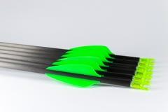 绿色末端箭头 库存图片