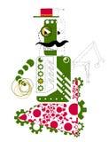 绿色机器人的图画 免版税库存照片