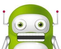 绿色机器人 库存图片