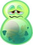 绿色杆菌 免版税库存照片