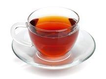 黑色杯子玻璃茶 免版税库存照片