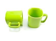 绿色杯子 免版税库存图片