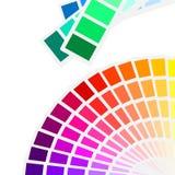 色板显示光谱 图库摄影