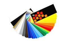色板显示 免版税图库摄影
