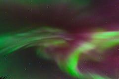 绿色极光光环 免版税库存图片