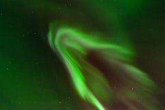 绿色极光光环 库存照片