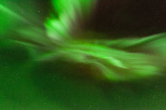 绿色极光光环 免版税库存照片