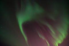 绿色极光 库存图片