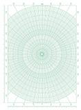 绿色极座标圆栅格座标图纸 免版税库存图片