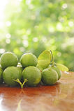 绿色柠檬 免版税图库摄影