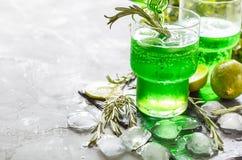 绿色柠檬水 免版税库存照片