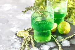 绿色柠檬水 免版税图库摄影