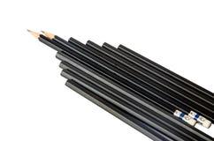 黑色查出的铅笔白色 库存图片