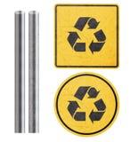 黄色标志 免版税库存照片