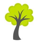绿色树传染媒介 免版税库存图片