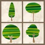 绿色树集合 向量例证