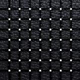 黑色样式和背景的被编织的皮革 库存照片