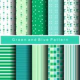 10绿色样式摘要背景传染媒介 库存图片