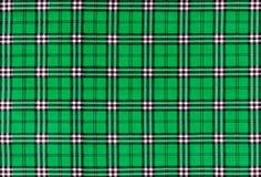绿色格子花织物纹理  免版税库存图片