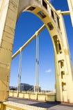 黄色桥梁曲拱 库存照片