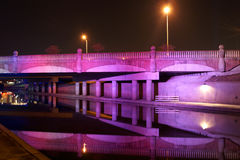 紫色桥梁 库存图片