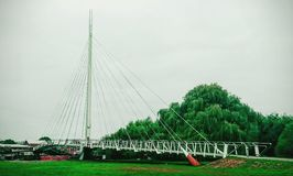绿色桥梁 免版税库存照片