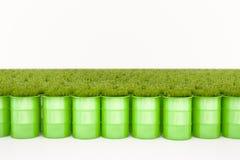 绿色桶生物燃料 库存图片
