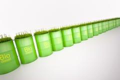 绿色桶生物燃料 免版税库存图片
