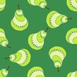 绿色梨样式 免版税库存图片