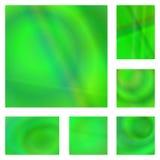 绿色梯度摘要背景设计集合 库存例证