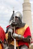 黑色棋骑士部分反映白色 库存照片