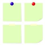 绿色棍子笔记。 图库摄影
