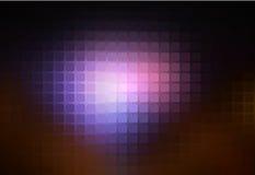 紫色棕色黑摘要被环绕的马赛克背景 向量例证