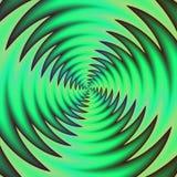 绿色棘手的推进器的自转 在快的运动的五颜六色的空调通风设备 免版税库存照片