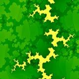 绿色森林分数维或云彩 创造性的抽象概念 难看的东西背景 独特的数字式例证设计 现代的图象 库存照片