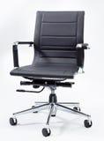 黑色椅子办公室 免版税库存图片