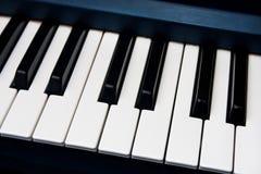 黑色概念创造性关键董事会喜欢音乐钢琴空白 免版税库存照片