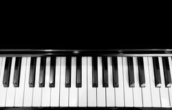 黑色概念创造性关键董事会喜欢音乐钢琴空白 库存照片
