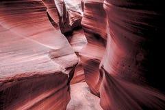 紫色槽孔峡谷 库存照片