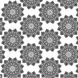 黑色模式无缝的白色 免版税库存照片
