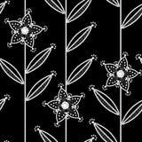 黑色模式无缝的白色 图库摄影