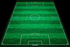 绿色橄榄球场 免版税库存照片