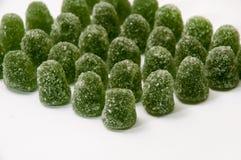 绿色橡胶薄荷脑糖果用糖 库存图片