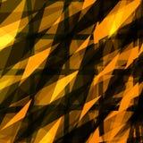 黄色正方形发光的抽象样式 免版税库存照片