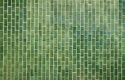绿色正方形铺磁砖模式 图库摄影