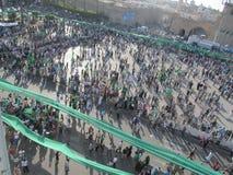绿色正方形- (的黎波里,利比亚) 库存照片