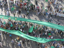 绿色正方形- (的黎波里,利比亚) 图库摄影