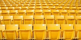 黄色正面看台 免版税库存照片